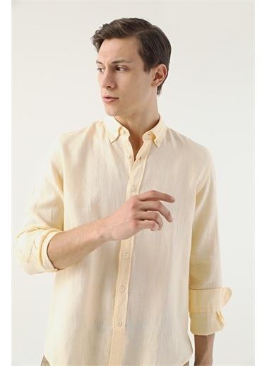 D'S Damat Ds Damat Regular Fit Sarı Gömlek Sarı